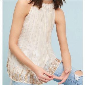 Anthropologie Ranna Gill sleeveless beaded top
